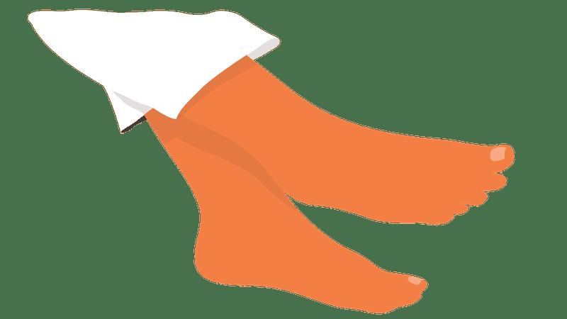 Illustration of feet