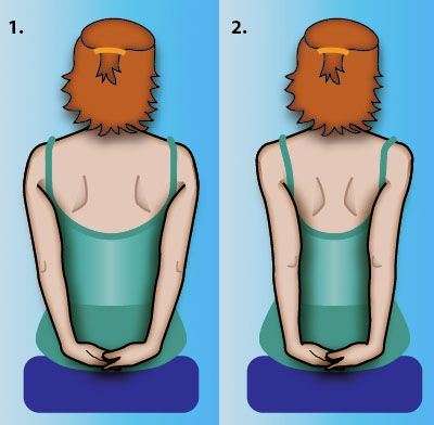 Shoulder Blade Squeeze Exercise