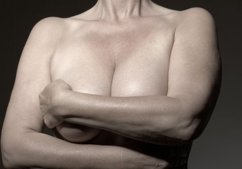 Upper body of mature woman