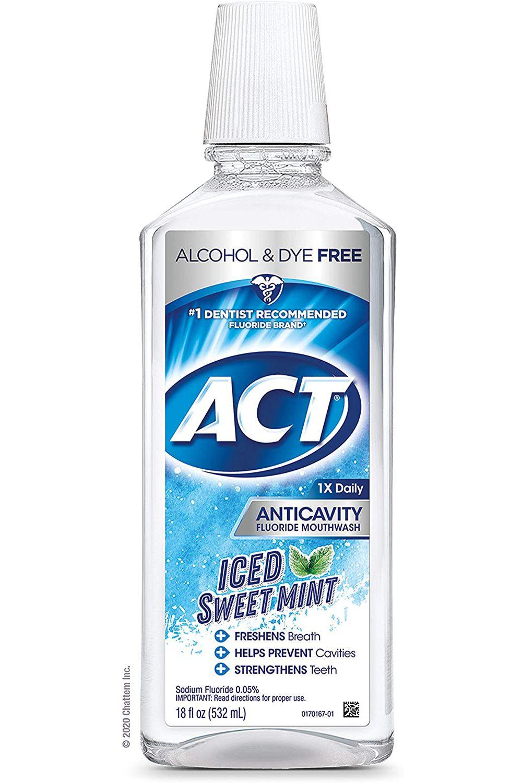 ACT Anticavity Zero Alcohol Fluoride Mouthwash