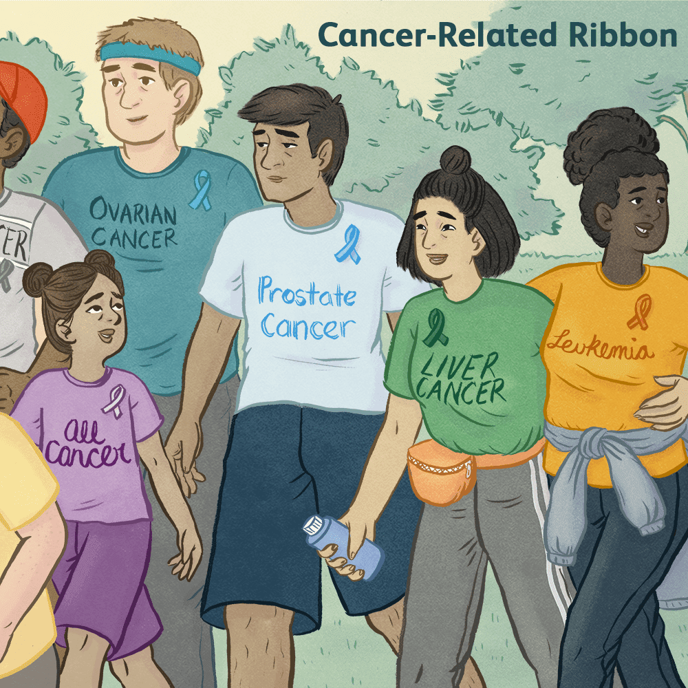 List Of Colors And Months For Cancer Ribbons