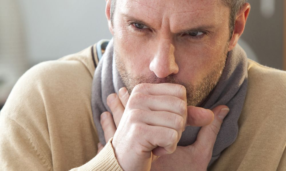 A long-term cough is one symptom of COPD.