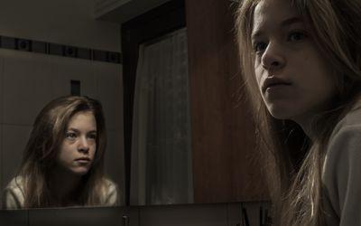 Young girl dealing with schizophrenia