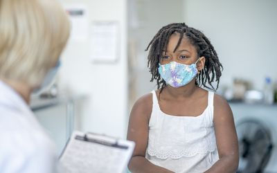 Child having medical examination