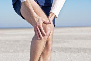 Man's knee