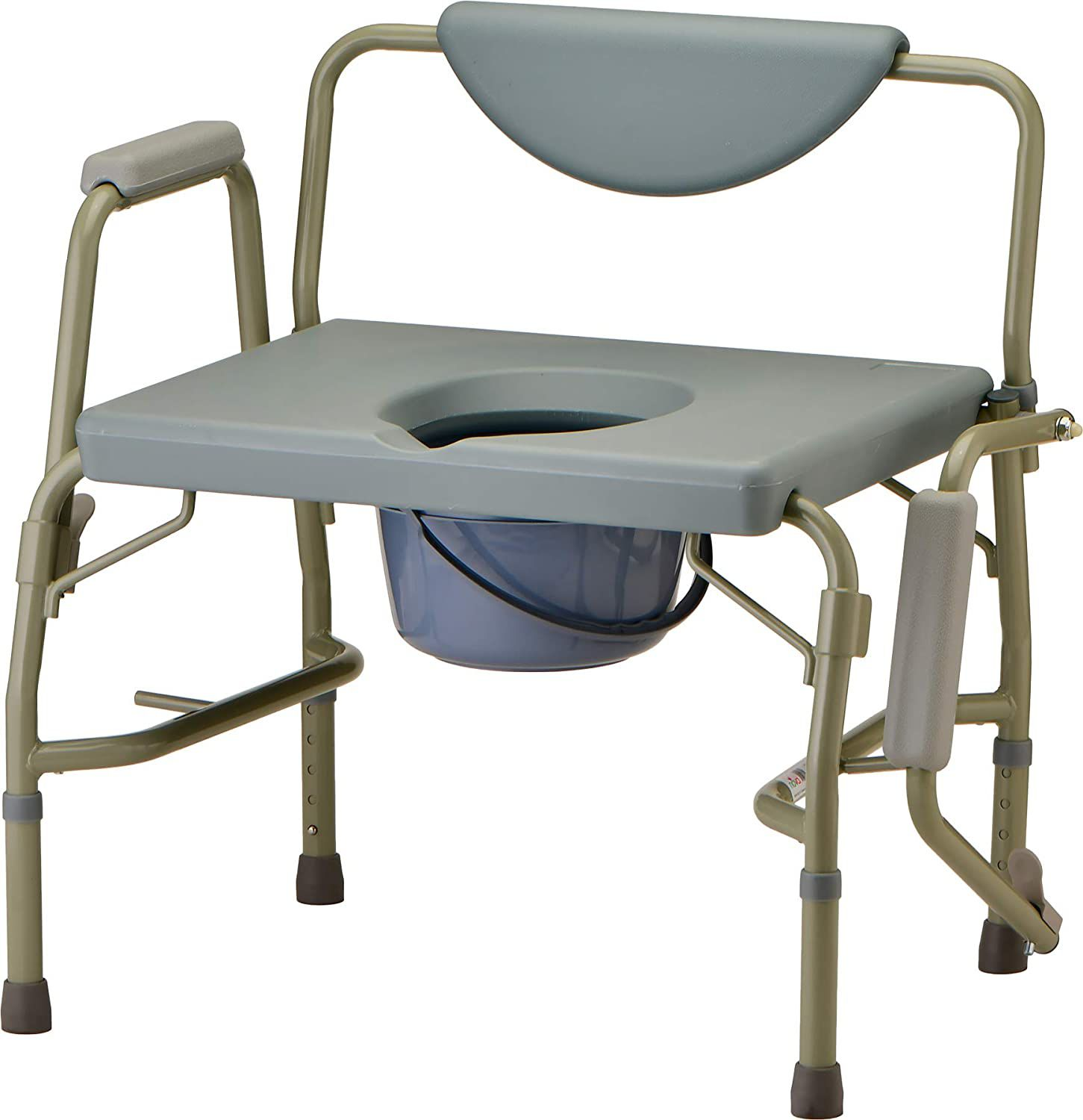 NOVA Medical Heavy Duty Bedside Commode Chair with Drop-Arm