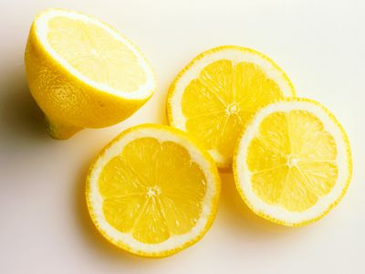 Fresh cut lemons