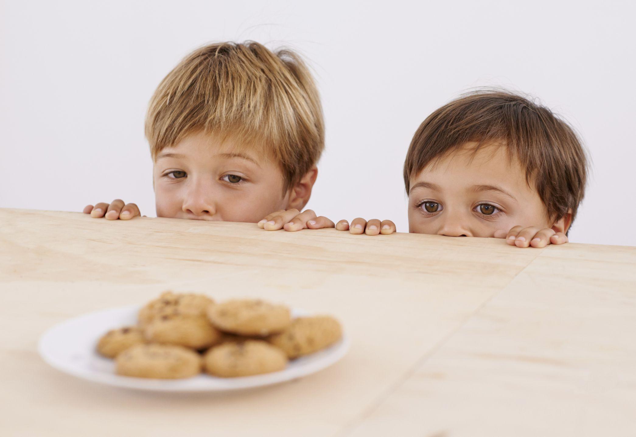 cookies tempting two children
