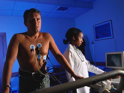 man having a cardiac stress test
