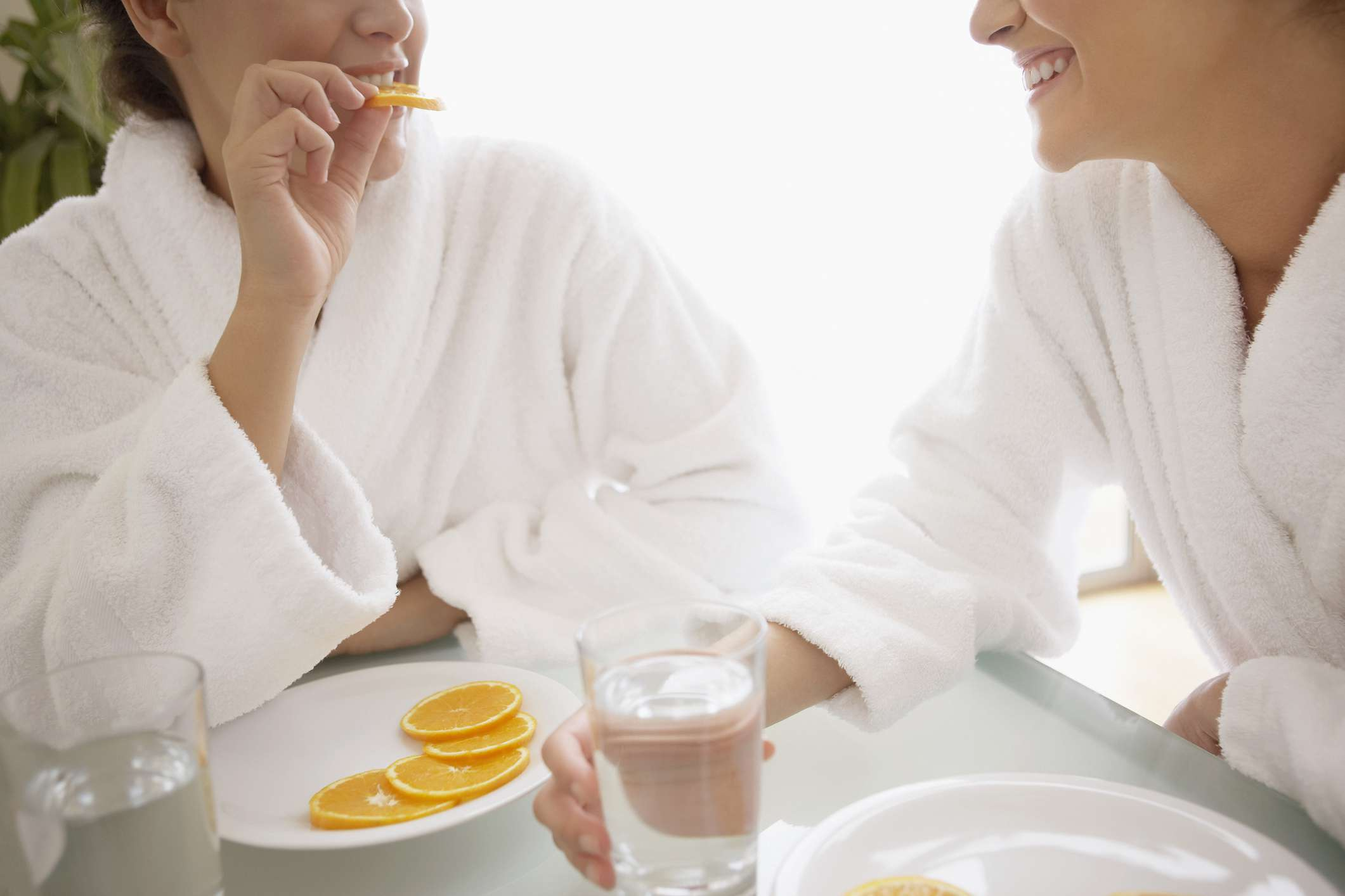 Two women at a weight loss spas
