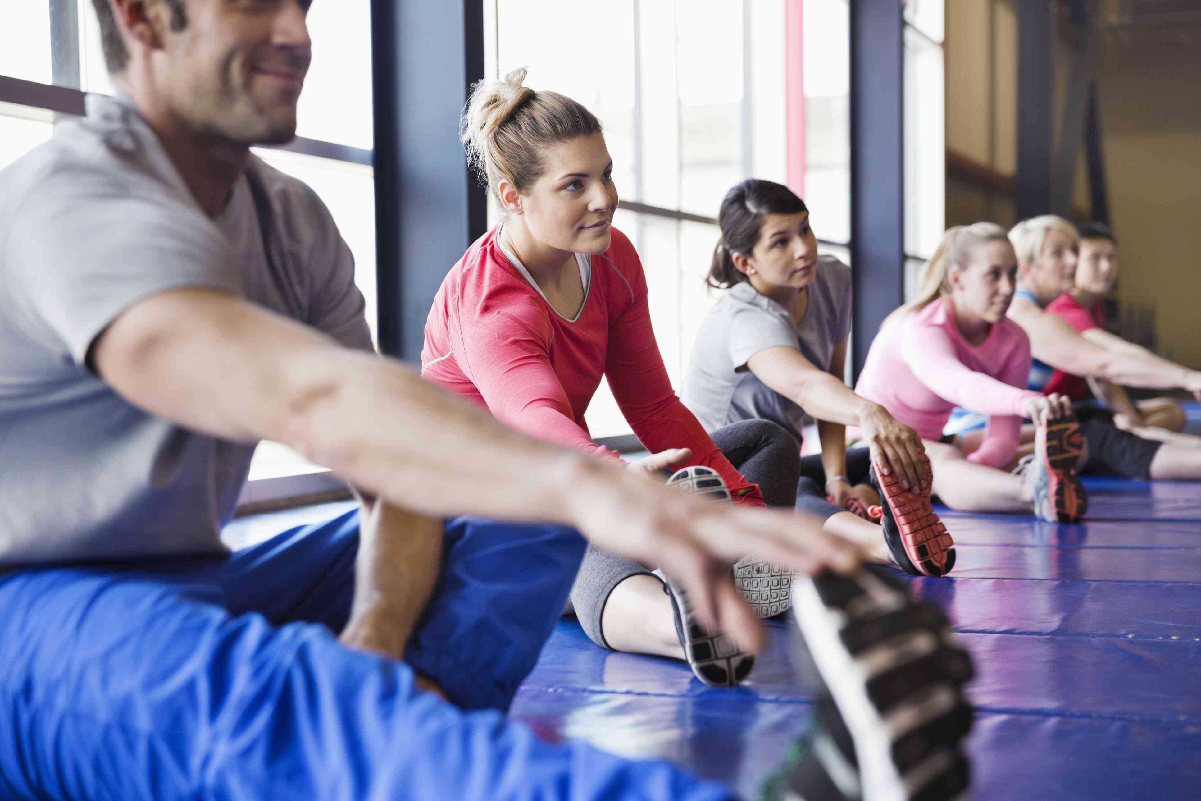 Group exercise and rehabilitation class.