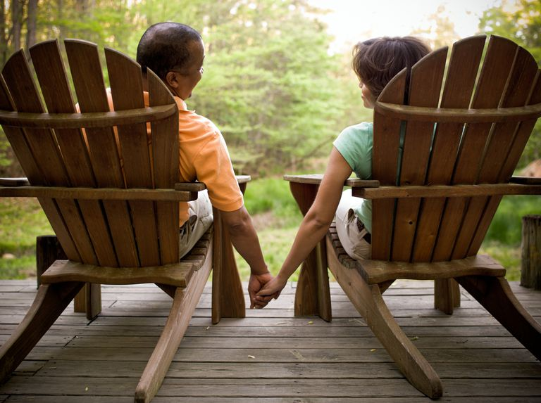 Adirondack Couple Holding Hands
