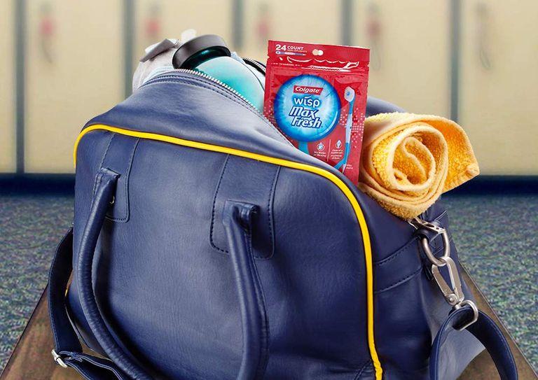 Colgate wisp in a packed bag