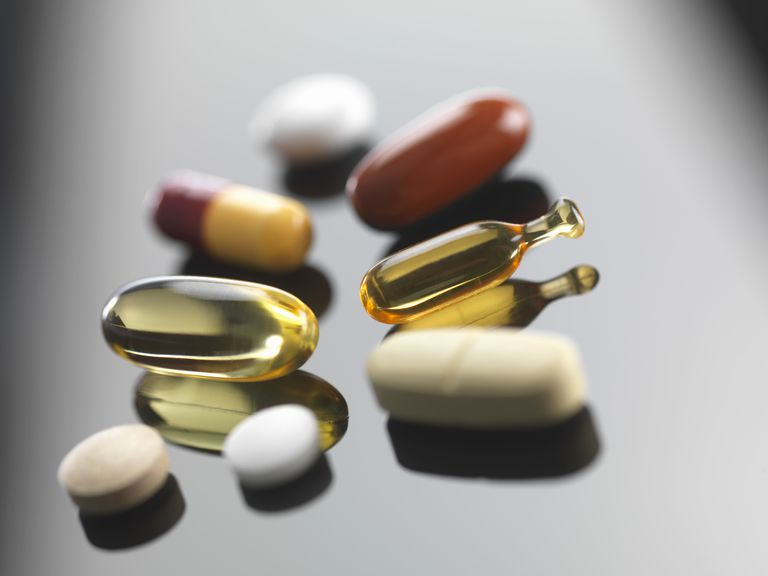 A selection of vitamins and herbal supplements