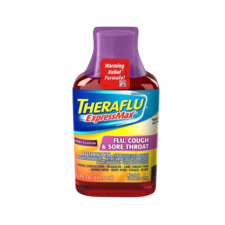 Best Liquid Theraflu Expressmax Flu Cough Sore Throat
