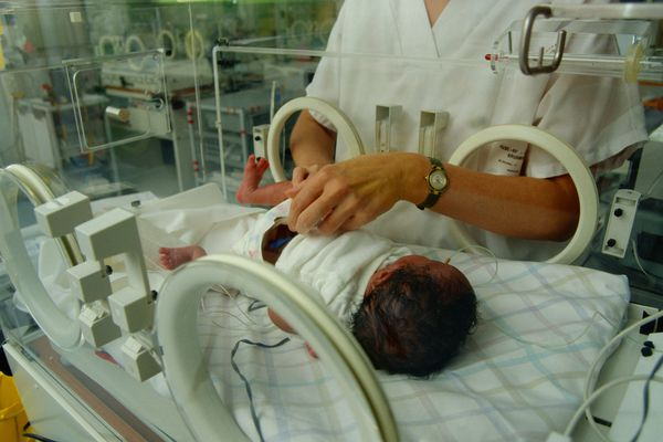 Premature baby in ICU