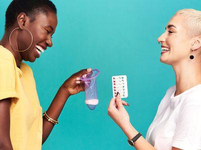 Friends comparing contraceptive methods