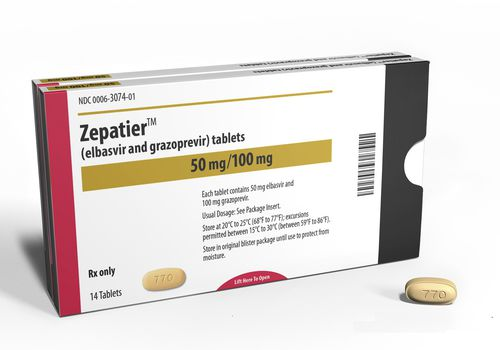 zepatier drug box illustration on white background