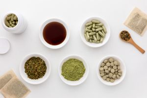 Alfalfa tablets, capsules, tea, powder, dried herb, and tincture