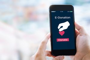 e-donation page on mobile phone