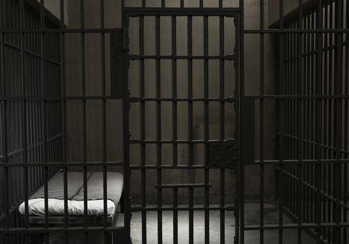 Empty prison cell.