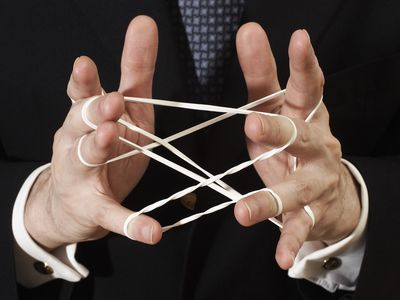 cats cradle with rubber bands