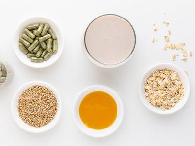 Oats, oat milk, avena sativa capsules, tincture