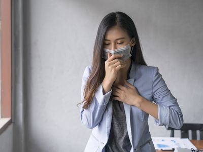 a woman who is sick