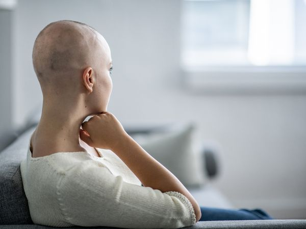 Young woman going through chemotherapy