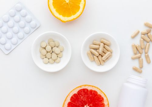 Diosmin capsules, tablets, grapefruit, and orange