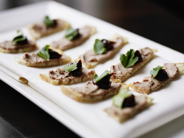 Duck liver mousse on crustini