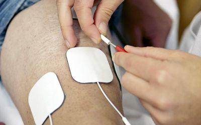 Electrical muscle stimulation, rebahilitation. Policlinica Gipuzkoa, San Sebastian, Donostia, Euskadi, Spain