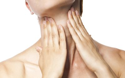 Acute pain in a throat