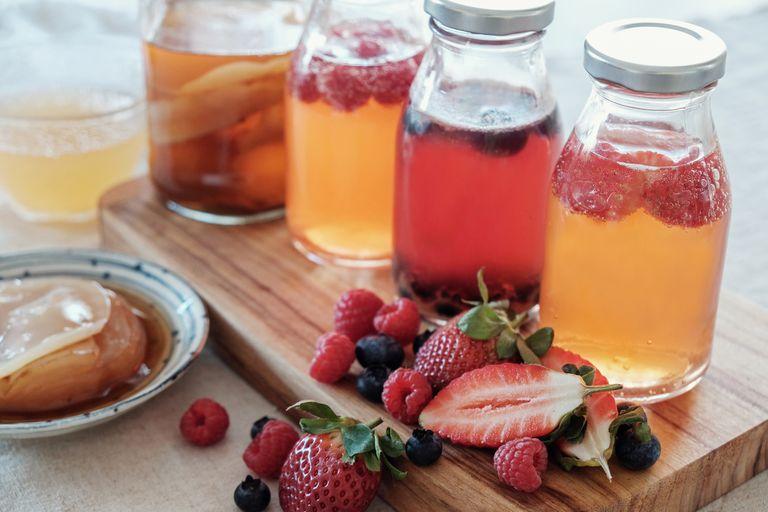 Kombucha second Fermented fruit tea