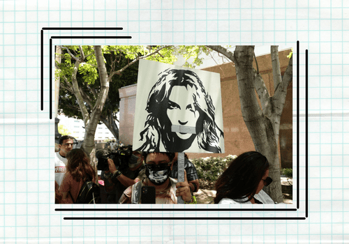 Free Britney protest image.