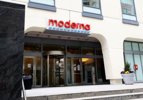Moderna office building sign