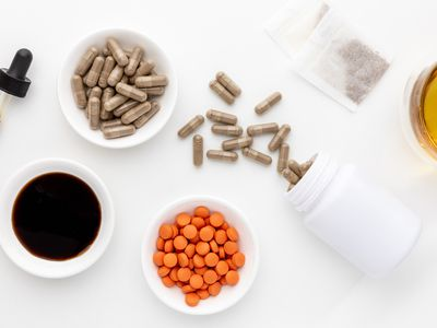 Valerian, tincture, capsules, tablets, and tea bags
