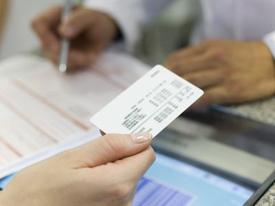 A health insurance ID card.