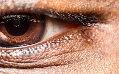 A person with brown eyes