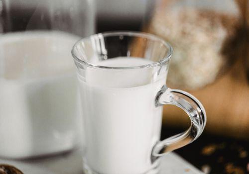 glass mug of milk