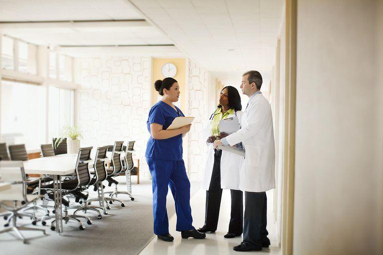 Medical professionals meet and confer