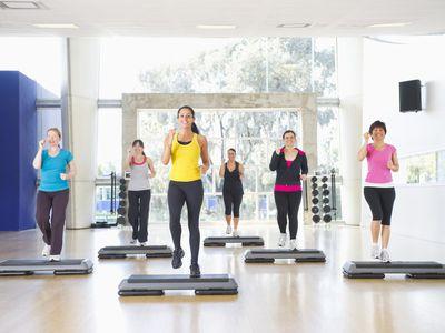 Women Doing Aerobic Exercise