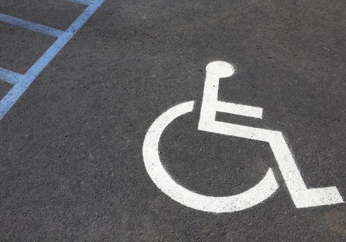 painted handicap sign in the big island of hawaii