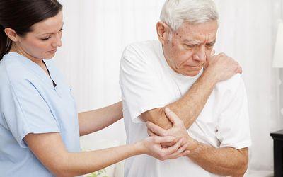 older man with arthritis