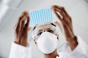 lab technician analyzing samples