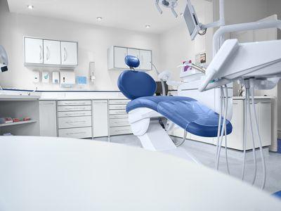 Empty dentist chair