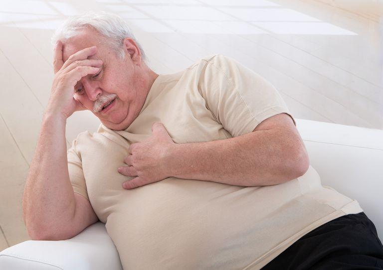 Overweight Mature Adult feeling faint
