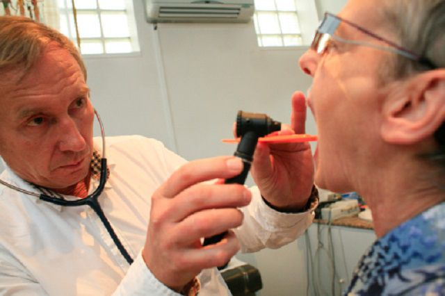 Ear Nose & Throat exam, Elderly Patient