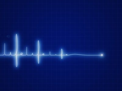 heart rate monitor reading that ends