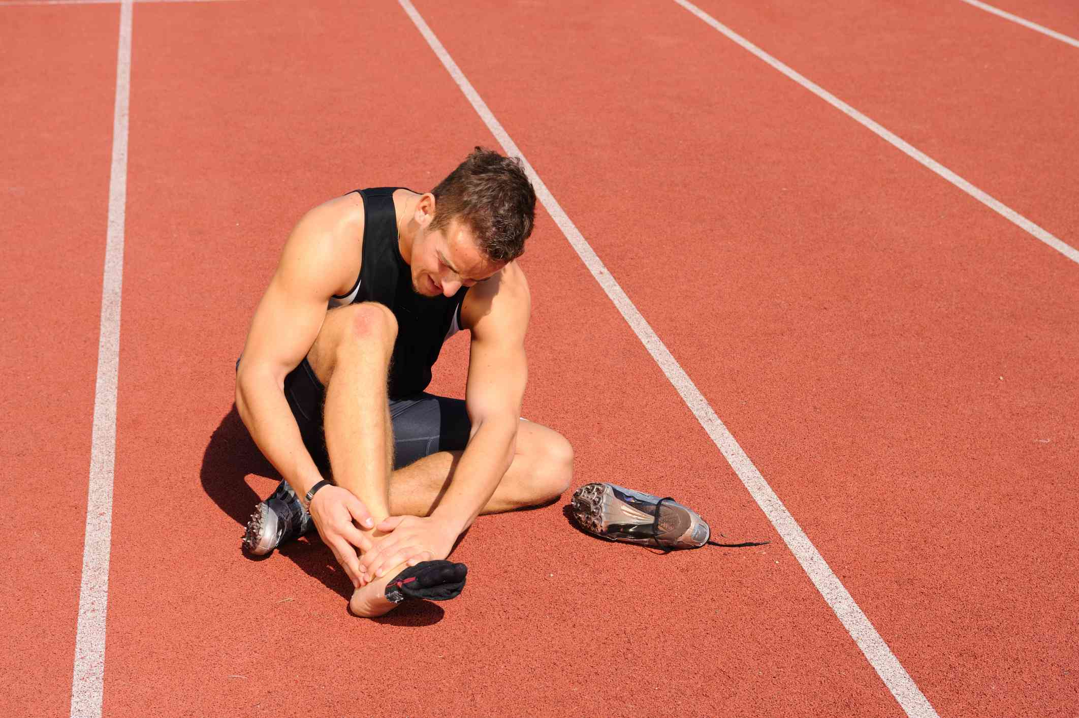 A runner with foot pain